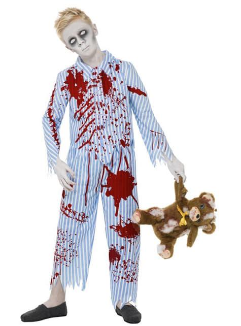 Disfraz de pijama zombie para niño