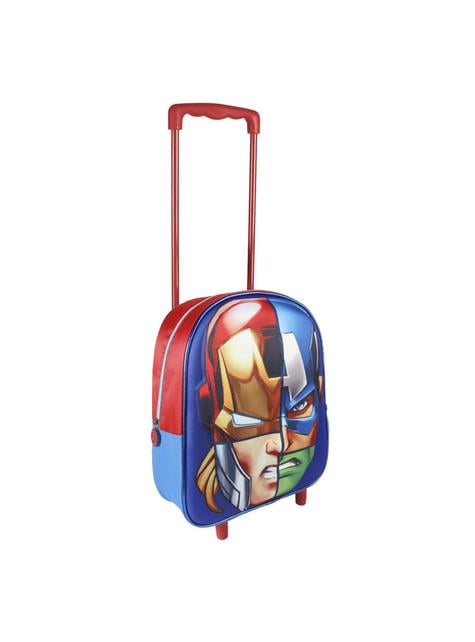 3D The Avengers børne rygsæk med hjul