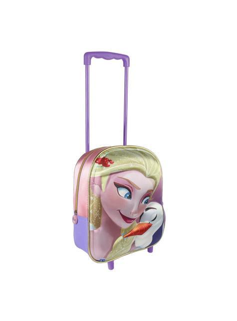 Mochila con ruedas infantil 3D Elsa - Frozen
