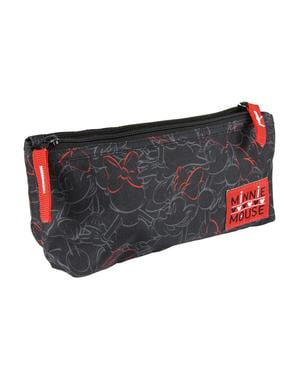 Estuche 2 compartimentos Minnie Mouse negro - Disney
