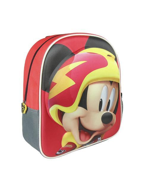 Mochila infantil 3D Mickey e os Superpilotos vermelha - Disney