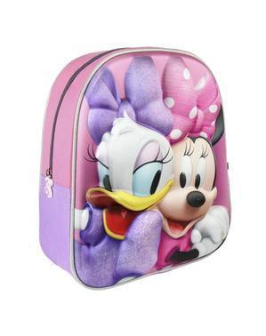 3Dデイジーとミニーマウスの子供用バックパック - ディズニー