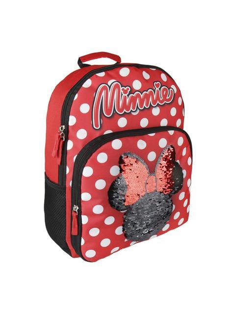 Mochila escolar Minnie Mouse con lentejuelas - Disney