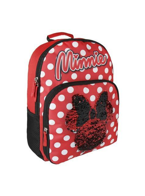 Mochila escolar Minnie Mouse com lantejoulas - Disney