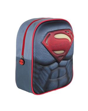3D Superman's chest kids backpack