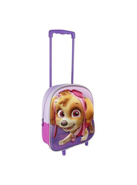 Mochila con ruedas infantil 3D Skye morada - Patrulla Canina
