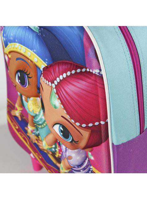 3D Shimmer and Shine kids backpack with wheels