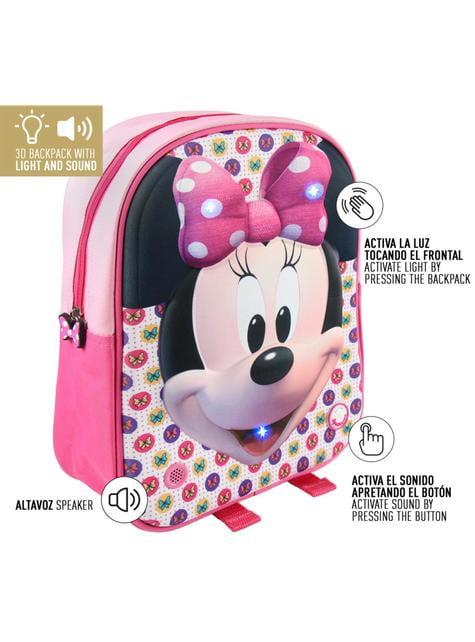 Mochila infantil con luces Minnie Mouse - Disney