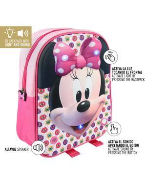 Mochila infantil com luzes Minnie Mouse - Disney