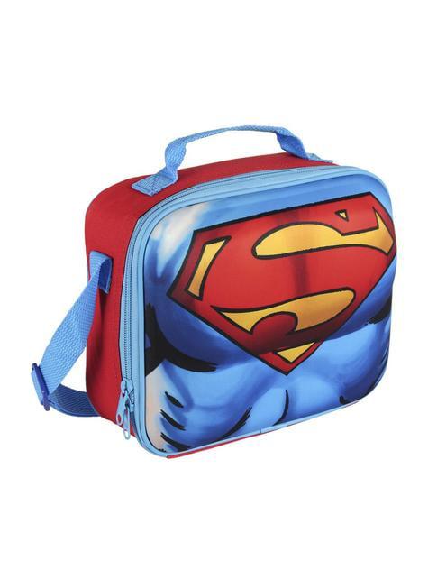 3D Супермен ізольований обід мішок