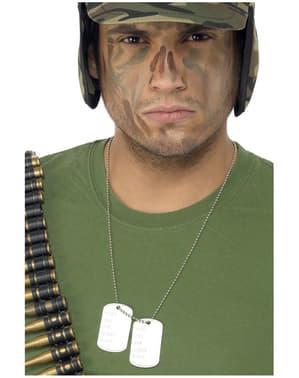 Vojenské známky na řetízku