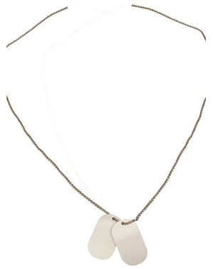 Placă identificativă cu lanț