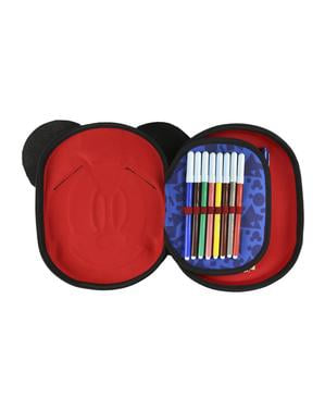 Mickey Mouse 3D Pencil Case with 3 Compartments - Disney