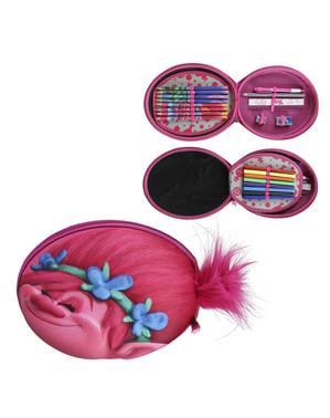 Poppy 3D Pencil Case with 3 Compartments - Trolls
