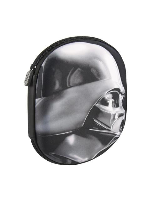 3D Darth Vader pencil case with three compartments - Star Wars