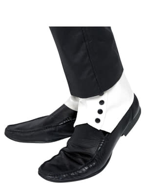 Collants blancs des boutons noirs