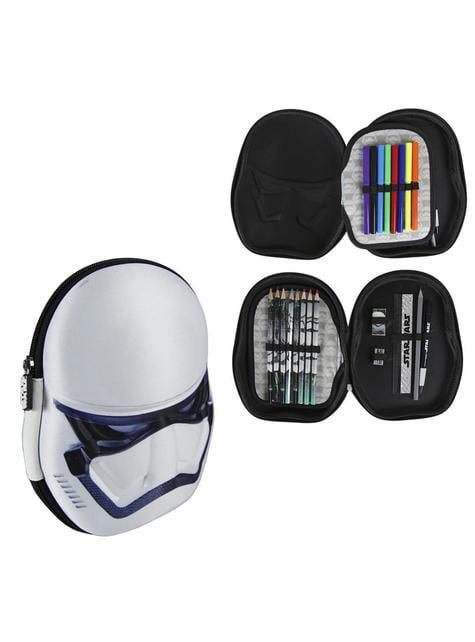 Estuche de tres compartimentos 3D Stormtrooper - Star Wars