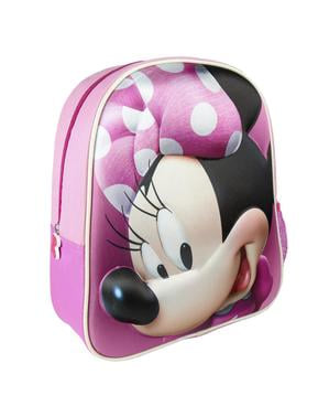 Pink 3D Minnie Mouse børne rygsæk - Disney