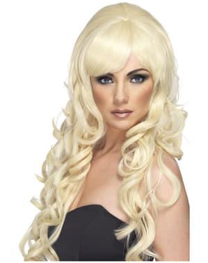 Blondi laineikas peruukki