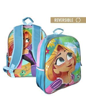 Mochila escolar reversível Rapunzel - Entrelaçados
