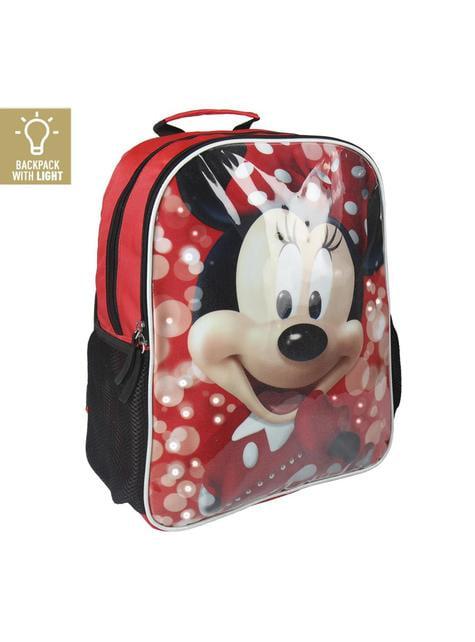 Mochila escolar Minnie Mouse con luces - Disney