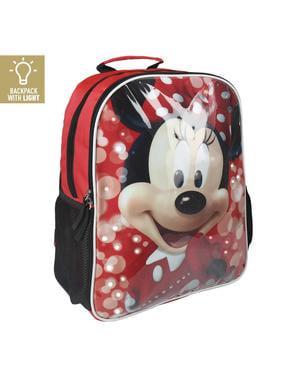Mochila escolar Minnie Mouse com luzes - Disney