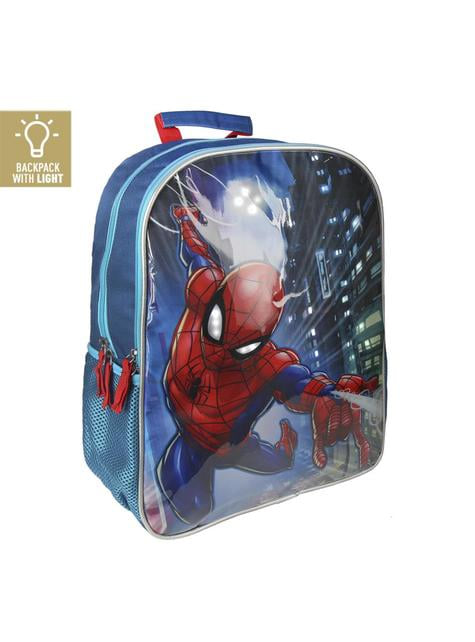 Mochila escolar con luces Spiderman