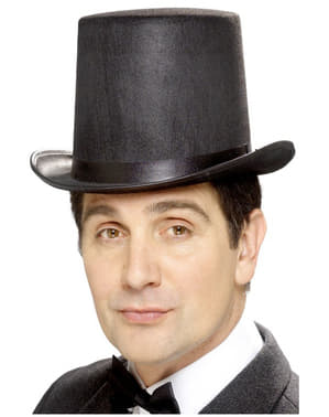 Høj sort hat
