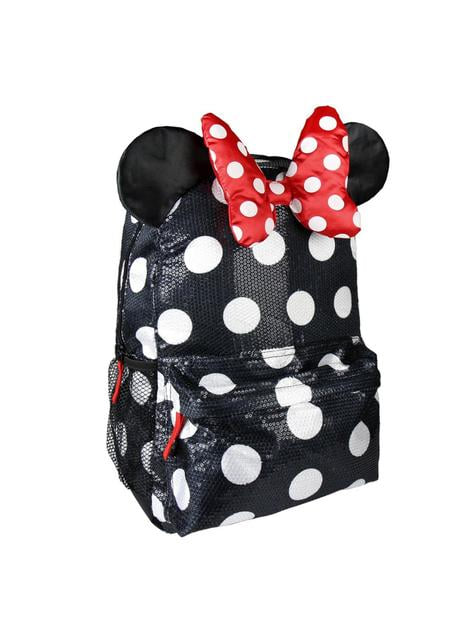 Mochila escolar Minnie Mouse vestido y lazo - Disney