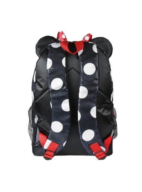 Mochila escolar Minnie Mouse vestido y lazo - Disney - oficial