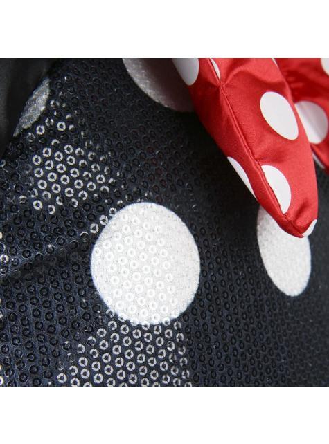 Mochila escolar Minnie Mouse vestido e laço - Disney