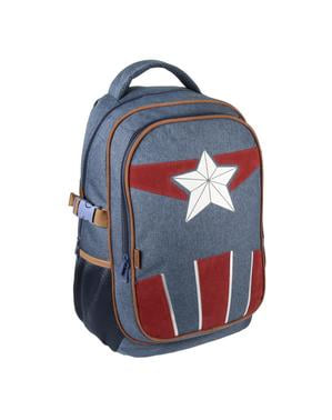 The Avengers - Denim effekt Captain America rygsæk