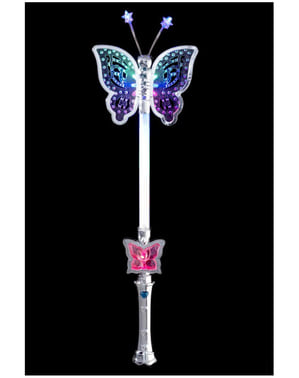 Silber Schmetterling Stab