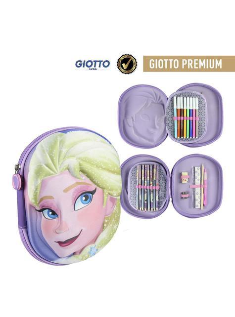 Astuccio con tre compartimenti 3D Elsa - Frozen