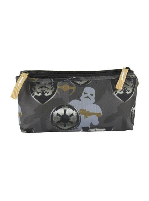 Estojo plano 2 compartimentos Stormtrooper - Star Wars