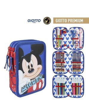 Mikke Premium Pennal med 3 Lommer - Disney