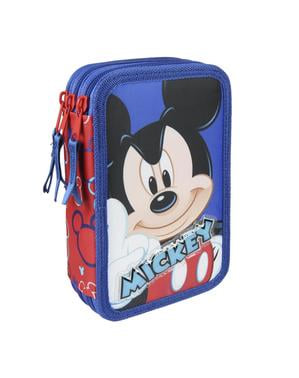 Pennfodral med tre dragkedjor Mickey premium – Disney