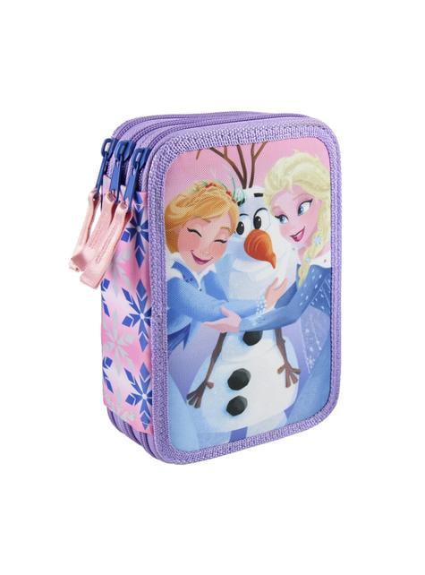 Estuche de tres cremalleras Frozen – Disney - oficial