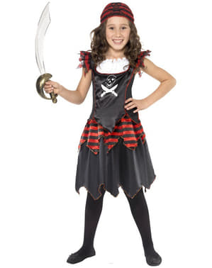 Piratin Kinderkostüm für Mädchen