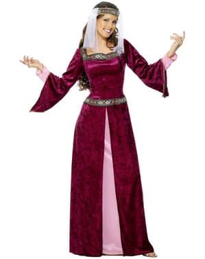 Costum Lady Marion culoarea burgundiu