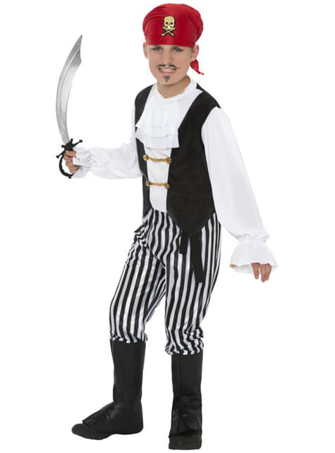 Fato de pirata patife para menino