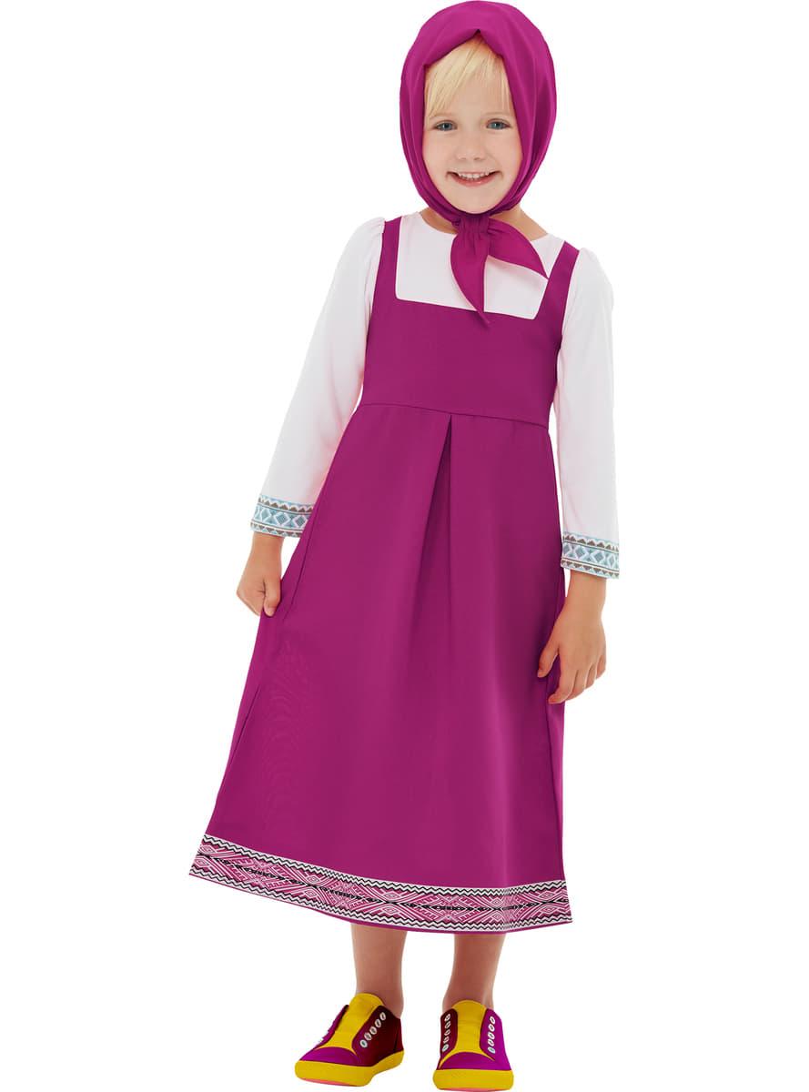 Disfraz de Masha para niña - Masha y el Oso. Entrega rápida | Funidelia