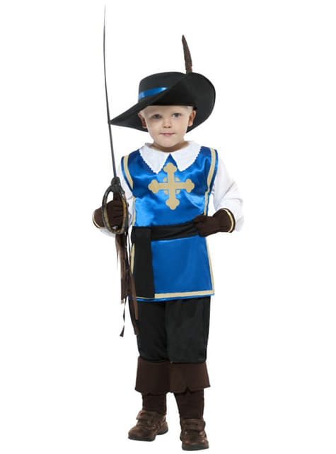 Modig musketör Maskeraddräkt Barn