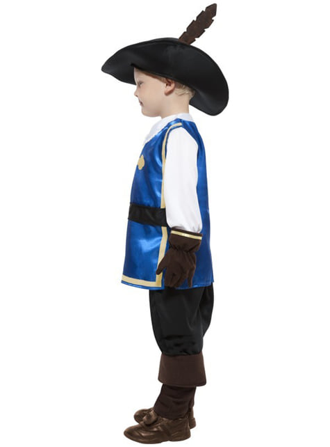 Modig Musketer Kostyme til Gutter