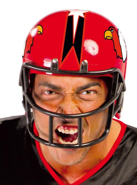 Červená přilba na americký fotbal pro dospělé