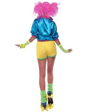 Disfarce de anos 80 patinadora