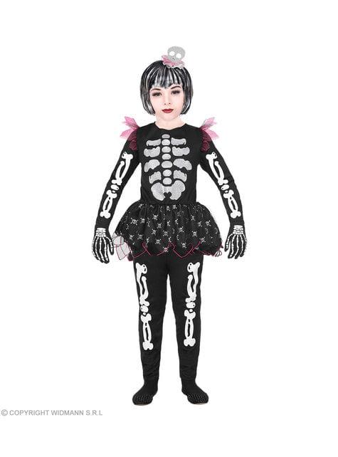 Verspieltes Skelett Kostüm für Mädchen