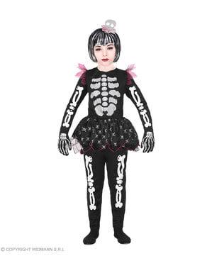 Sjovt skelet kostume til piger