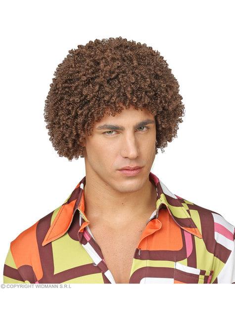 Brown περούκα 70 της Αφροί για τους ενήλικες