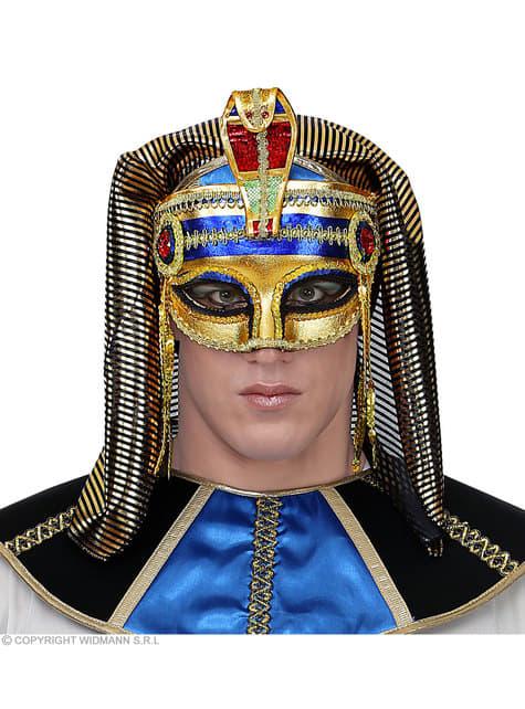 Antifaz veneciano de faraón egipcio para adulto